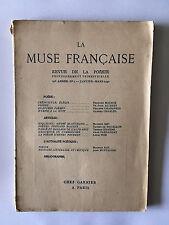 LA MUSE FRANCAISE N°1 1940 POESIE POEMES