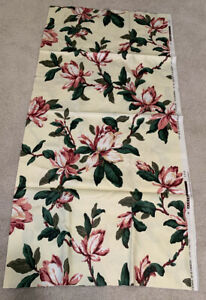 Waverly Fabric Floral Magnolia All That Jazz Metropole Cotton Pink Yellow USA