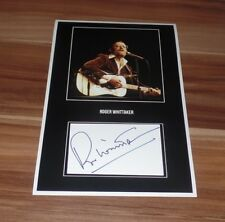 Roger Whittaker, original signed Fotocollage 20x30 cm (8x12)