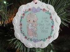 """Precious Moments Porcelain Ornament """"Love Is The Best Gift Of All"""" 1992"""