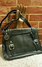 Relic Black Vegan Logo Shoulder Bag Handbag Satchel NEW!  1592