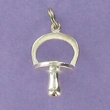 Pacifier Charm Sterling Silver 925 for Bracelet Baby Dummy Binky Nuk Soother