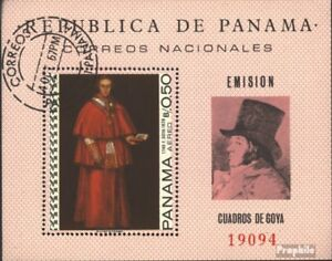 Panama block79 (complete issue) used 1967 Paintings of Francisc