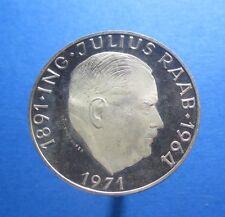 AUSTRIA 50 SCHILLING 1971 SILVER PROOF KM 2911 #338#