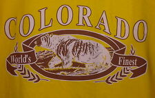 NWT Colorado Black Bear T Shirt Yellow L