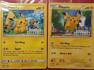Pokemon Cards BUILD A BEAR Promos Pikachu Set SM86 and 20/108 Roaring Skies