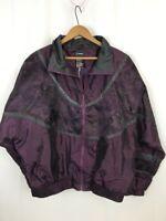 Outbrook L women's Purple Windbreaker VTG Vintage