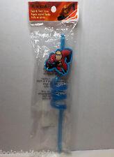 Disney The Incredibles MR Incredible Twist & Twirl Crazy Straw  NIP