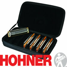 Hohner MBC Marine Band Case of 5 Harmonicas Pack Harmonica Set G A C D E Harps
