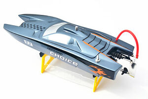 M380 Fiber Glass Catamaran Gray Electric Racing PNP RC Boat W/ MotorServo ESC