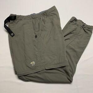 Mountain Hardwear Green Convertible Trail Hiking Camping Pants Shorts Size: XL