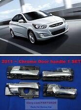 Fit 2011 ~ Hyundai Solaris Accent Inner Chrome Door handle 4PCS 1SET Genuine OEM