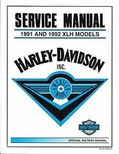 1991-1992 Harley Sportster Evo 883 1200 XL Service Repair Manual NEW 99484-92