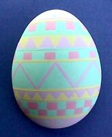 Hallmark PIN Easter Vintage EGG PASTEL Geometric Pattern Holiday Brooch