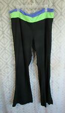 Gap Body Pants Size XXL Reg Blue Green Black Elastic Waist Exercise Gym Workout
