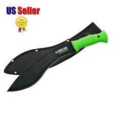 """15 3/4"""" Green Wartech Biohazard Zombie Survival Gear Kukri Machete Knife"""