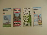 Lot of 4 Texaco Chevron Portland Oregon City Street Oil Gas Station Road Maps