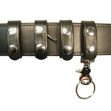 "Boston Leather 5493-1 Black Plain 1/"" Close Belt Keeper"