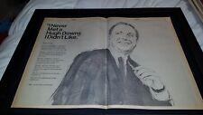 Hugh Downs Rare Original NBC Television Promo Poster Ad Framed!