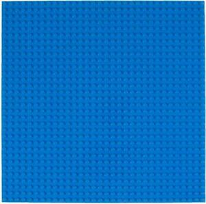 """Classic Baseplates 10"""" x 10"""" Stackable Brick Base Plate by Strictly Briks - Blue"""