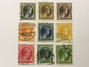 old stamps  LUXEMBOURG   x  9