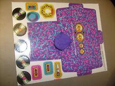 Rappin' Rockin' Barbie Doll 1992 Cardboard cut outs and Hat / j3