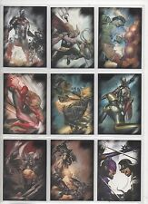 RITTENHOUSE MARVEL: HEROES & VILLAINS BASE SET 81CARDS