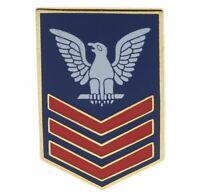 USN Navy 1st Class Petty Officer Crow red blue Hat or Lapel Pin JCH14398 JD146