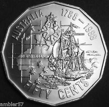 "**1988 ""Australian Bicentenary "" 50c coin UNC from mint Roll **"