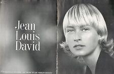 ▬► PUBLICITE ADVERTISING Jean Louis DAVID Relax et assouplissants  1994 2 pages