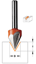 "CMT Laser Point Router Bit 1/2"" diameter, 1/2"" shank 858.501.11"