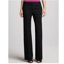 Lafayette 148 NY Womens Black Linen Twill Menswear Pants 6