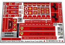 Replica Pre-Cut Sticker for Racers Set 8654 - Scuderia Ferrari Truck (2005)