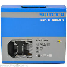 NEW 2018 Shimano PD-R540 SPD-SL Aluminum Road Pedals & Floating Cleats: SILVER