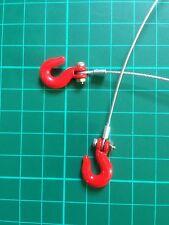 Rock Crawler RC 1:10th escala ganchos de remolque de alambre con rojo