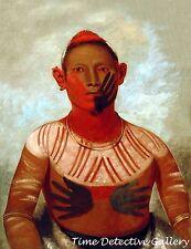 I-o-way, a Sauk Fox Warrior by George Catlin -1832- Native American Art Print