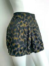 JAEGER BOUTIQUE high waist shorts/ sexy hot pants size 8 leopard print --VGC--