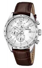 Festina Herrenuhr Uhr Chrono Chronograph Datum Leder Herren Quarz F16760/1