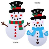 DIY Felt Christmas Tree Snowman with Ornaments Kids Toys Christmas Party De O7S8