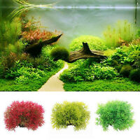 DI- KE_ Artificial Water Green Grass Plant Aquarium Fish Tank Ornament Decor New