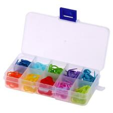 120pcs/Box 10 Colors Knitting Accessories Crochet Locking Stitch Markers Tool
