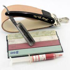 Straight Razor Shaving Strop Stone Sharpener Polishing Paste Best Shaving Kit