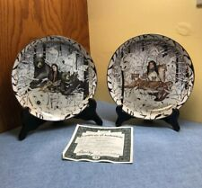2 Bradford plates, Spirit Union & Eternal Bond by Diana Casey, Where Paths Meet