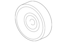 Genuine Ford Pulley 1L2Z-6C348-AA