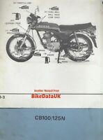 Honda CB100N (1978-1986) Official Factory Service Repair Manual CB 100 125 CC14