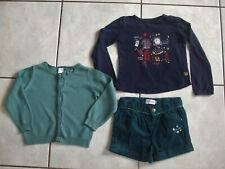 ENSEMBLE SHORT LA COMPAGNIE DES PETITS+GILET TEX +TEE SHIRT SERGENT MAJOR 2 ANS