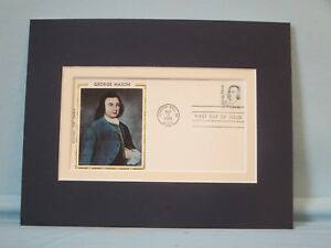 American Patriot George Mason & First day Cover of his own stamp