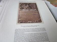 Frankfurt Archiv A 8 Kunstgewerbe 5025 Wappenstein alte Mühle HAusen 1737