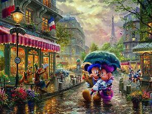 Ceaco - Mickey Minnie in Paris Disney by Thomas Kinkade Jigsaw Puzzle (750 Piece