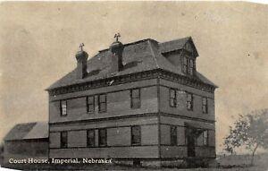 H66/ Imperial Nebraska Postcard c1910 Court House Building  44